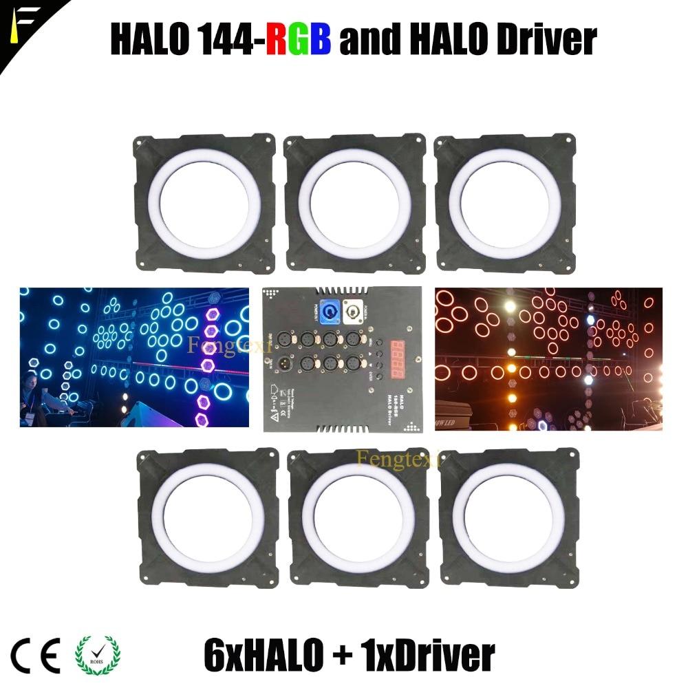 Этап бар световой эффект светодио дный RGB 3in1 HALO уплотнительное кольцо свет пикселей матрица 6 фоном этап Шторы украшения 6 шт. В группе Беспла