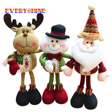 Santa Claus Snowman Reindeer Plush Figurines Christmas Tree Decoration Dolls Ornaments Kids Favors Gift Toys for Home SD404