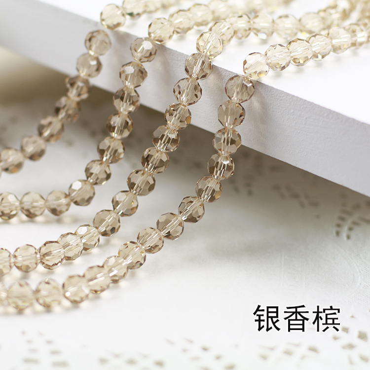 Wholesale~ Silver Shadow Color 5000# Crystal Glass Beads Loose Round Stones Spacer for Jewelry Garment.4mm 6mm 8mm 10mm wholesale light siam color 5000 crystal glass beads loose round stones spacer for jewelry garment 4mm 6mm 8mm 10mm