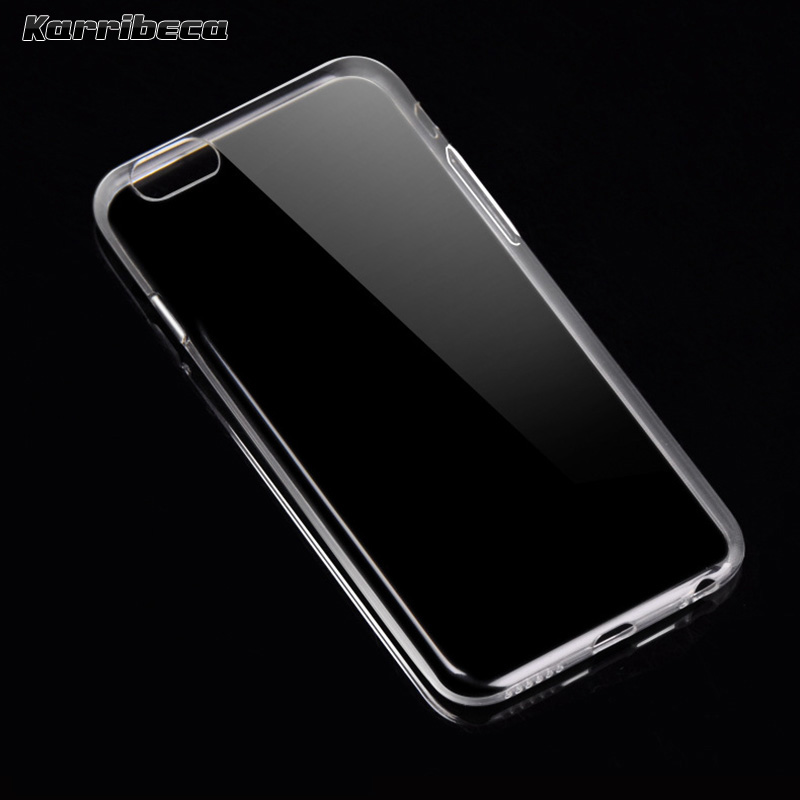 342dd824581 Ultra thin slim transparent silicone case for Iphone 6 6s funda coque  hoesje tpu phone cover 6/6s plus plukryt tok etui carcasa