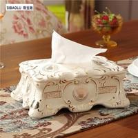 10 removable tissue box Ceramic car tissue boxes Tissue holder Paper case paper box Living room decoration