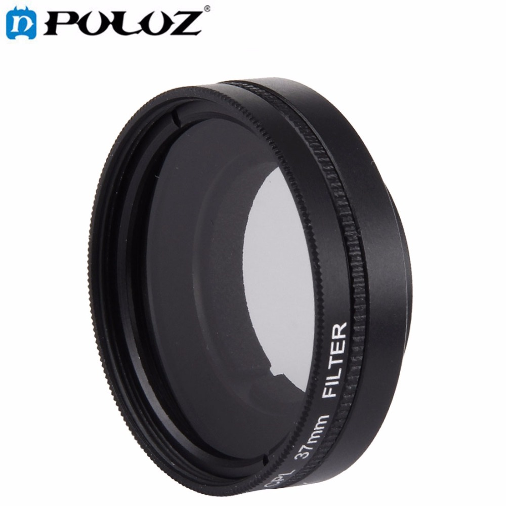 Proffesional 37mm CPL Filter + Lens Protective Cap for Xiaomi Xiaoyi Yi II 4K 4K+(Plus) Sport Action Camera Accessories