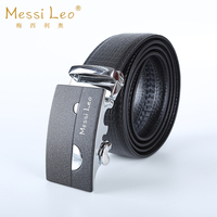 Messi Leo N Man Belts Genuine Leather Belt For Men Automatic Buckle Cowskin Belts Fashion Casual
