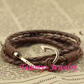 MYLB0146 30% OFF Fashion Jewelry 5 Colors Handmade Diy Jewelry PU Leather 40cm Gold Hooks Bracelets For Women Gift Free Shipping