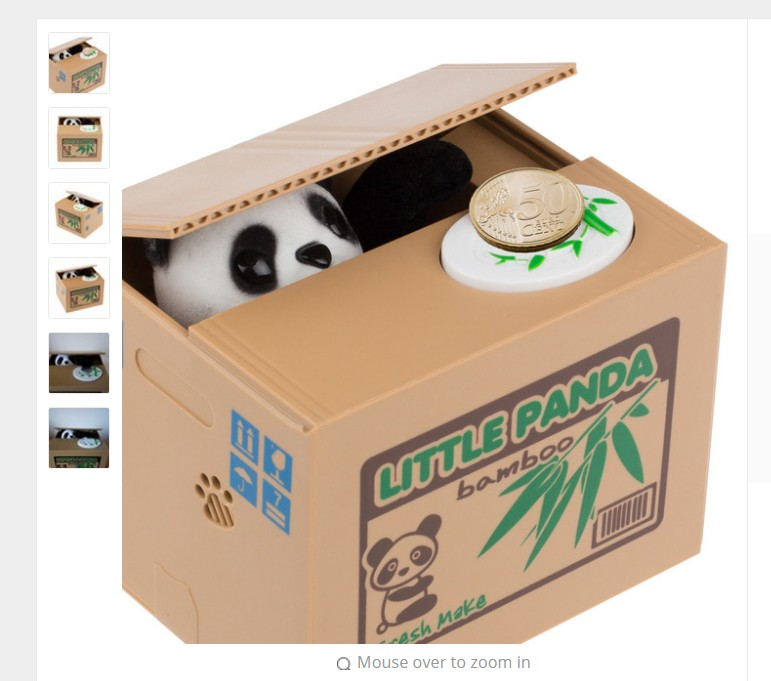 Panda Thief Money toy piggy bank - money boxes - Coin Piggy Bank - Money Saving Box