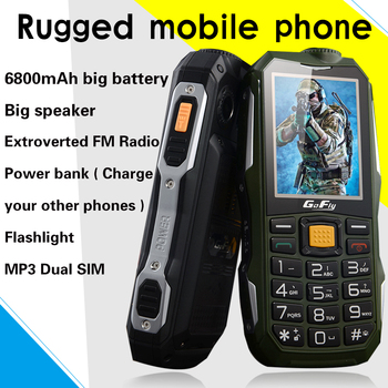 GOFLY F7000 Russian Arabic Shockproof SOS flashlight 6800mAh Battery Long Standby Power Bank Mobile Phone torch FM cell P069 2