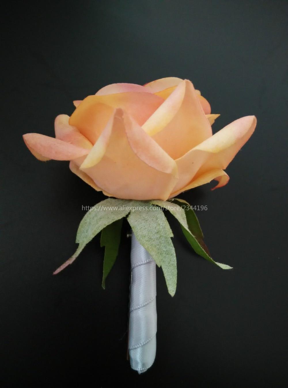 Peach Garden Rose Boutonniere popular peach roses-buy cheap peach roses lots from china peach