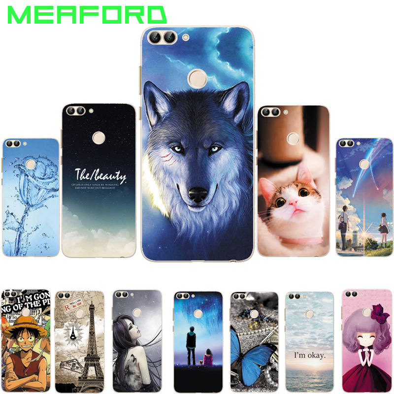 For Huawei P Smart Case 5.65 Soft TPU Silicone Cartoon Back Case For Huawei P Smart PSmart FIG-LX1 FIG-L21 Phone Coque Capa