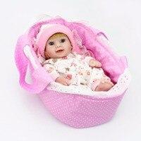 1 Pcs Mini Reborn Baby Doll 10 Inch Vinyl Baby Alive Toys Girls Gift Basket Pillow