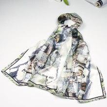 Шелковый шарф, женский шарф, шелковая шаль,, дизайнерская шелковая Пашмина, длинная, средней толщины, шелковая накидка, роскошный подарок для леди