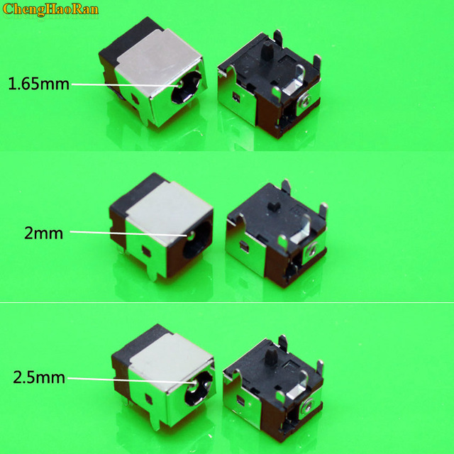 Chenghaoran 1.65mm/2.0mm/2.5mm 노트북 dc 전원 잭 커넥터 hp/asus/acer/lenovo 1.7mm dc 잭 전원 소켓 노트북