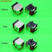Chenghaoran 1.65mm/2.0mm/2.5mm portátil conector de tomada de alimentação dc para hp/asus/acer/lenovo 1.7mm dc jack tomada notebook