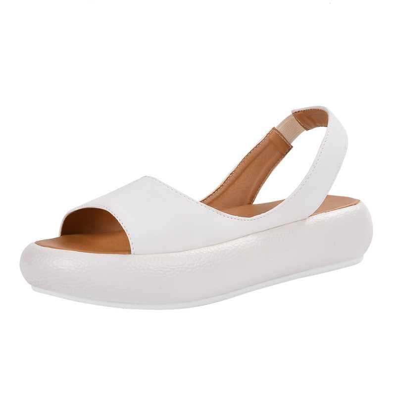 2019 קיץ טריזי סנדלי לבן אופנה סקסי בוהן פתוח פלטפורמת מעלית נשים סנדלי נעליים בתוספת גודל 34-43 משאבות ורוד