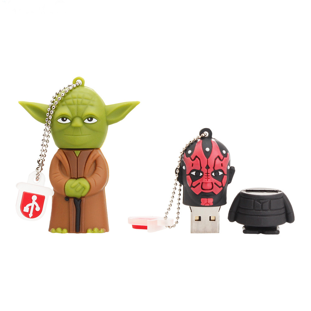 Image 4 - Cartoon usb stick 2.0 flash memory Stick 128GB Star Wars Pen drive 4GB 8GB 16GB 32GB 64GB Pendrive USB Flash Drive free shipping-in USB Flash Drives from Computer & Office