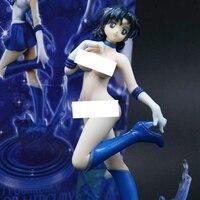 20 см Figuarts нулевой Сейлор Мун Сейлор Меркури окрашены смолы ПВХ Магия Изменить сексуальная фигура взрослых голых аниме GK модель игрушки кукл