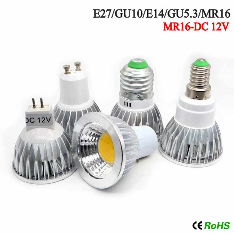 Nueva lámpara Led de alta potencia MR16 GU5.3 COB 12w 15w 20w regulable foco Led Cob blanco cálido MR16 12V bombilla GU 5,3 220V