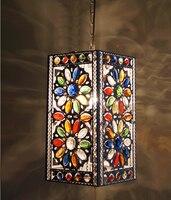 free shipping Bohemia pendant light vintage lamp restaurant lamp crystal lamp bedroom lamp bronze pendant light