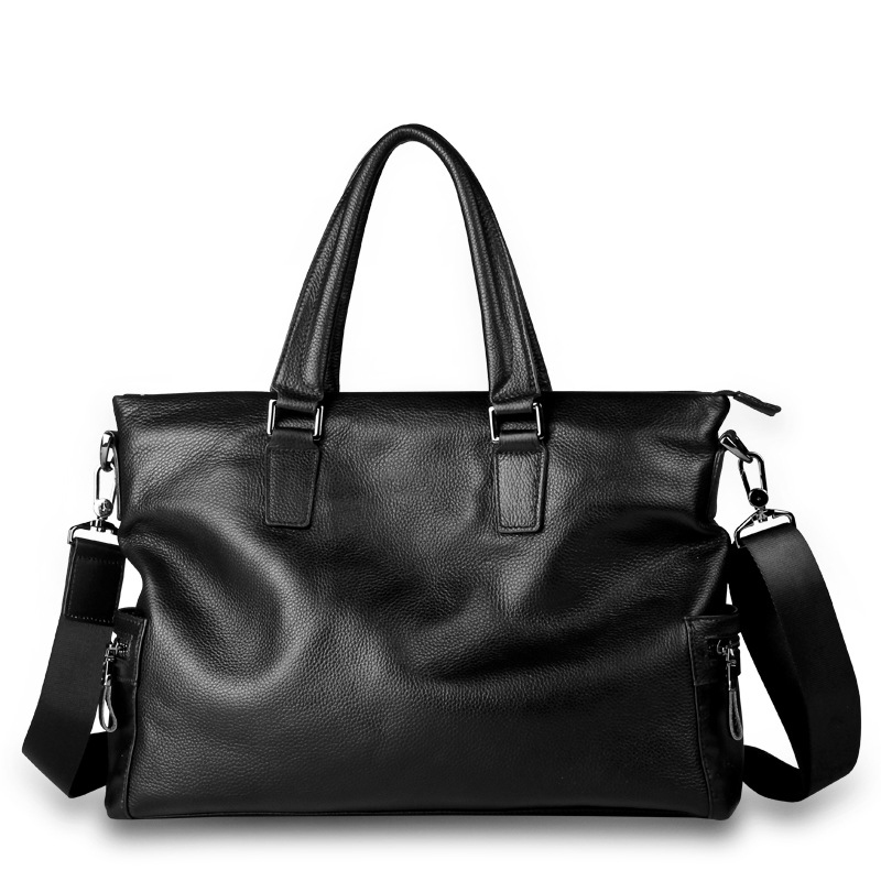 Mens Genuine Leather Business Travel Large Capacity Computer Bag Multi-Function Solid Color Handbag High Quality Casual HandbagMens Genuine Leather Business Travel Large Capacity Computer Bag Multi-Function Solid Color Handbag High Quality Casual Handbag