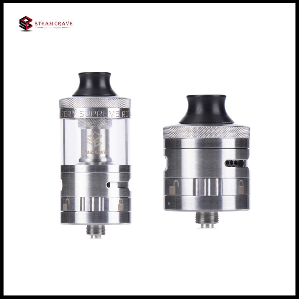 Steam Crave Aromamizer Suprem RDTA V2 5ml 8ml Capacity 25mm Diameter Real Dripper Atomizer Tank E Cigarette VS Aromamizer Plus