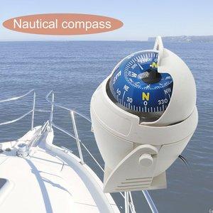 Image 2 - Abs branco de alta precisão led luz veículo eletrônico carro bússola navegação mar marinha militar barco navio bússola venda quente