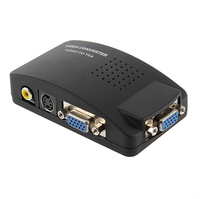 1pcs AV S Video RCA Composite Video to PC Laptop VGA TV Converter adapter box wholesale