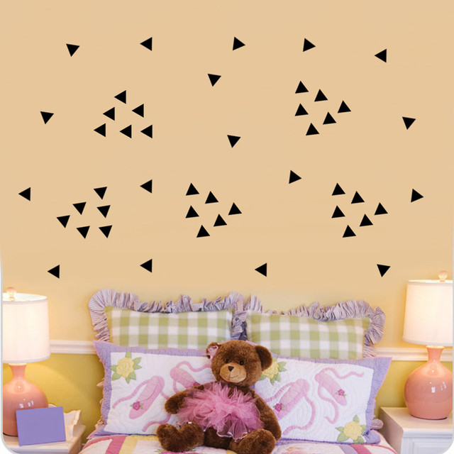 Aliexpress.com : Buy 5cm Black Triangles Wall Stickers,154pc/Sheet ...