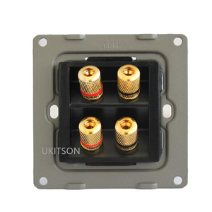 Image 4 - Quality Speaker Wall Panel Frame With 4 Ports Banana Connectors For Home Theater System