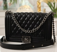 2018 Top Quality Women Handbags Luxury Designer Le Boy Brand Crossbody Bags Woc Chain Lambskin Shoulder