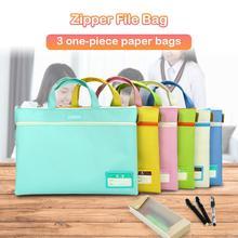 Портативный двухслойный портфель, сумка, цветная посылка, A4, Оксфорд, Сумка для документов, для студентов, офиса, школы, портфель, сумка