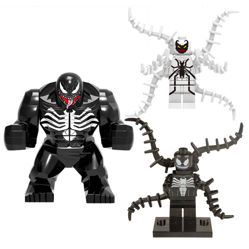 Single Sale Large Super Heroes Classic Movie Venom Hulkbuster Darkseid Figures Set Building Block Construction Toys for children