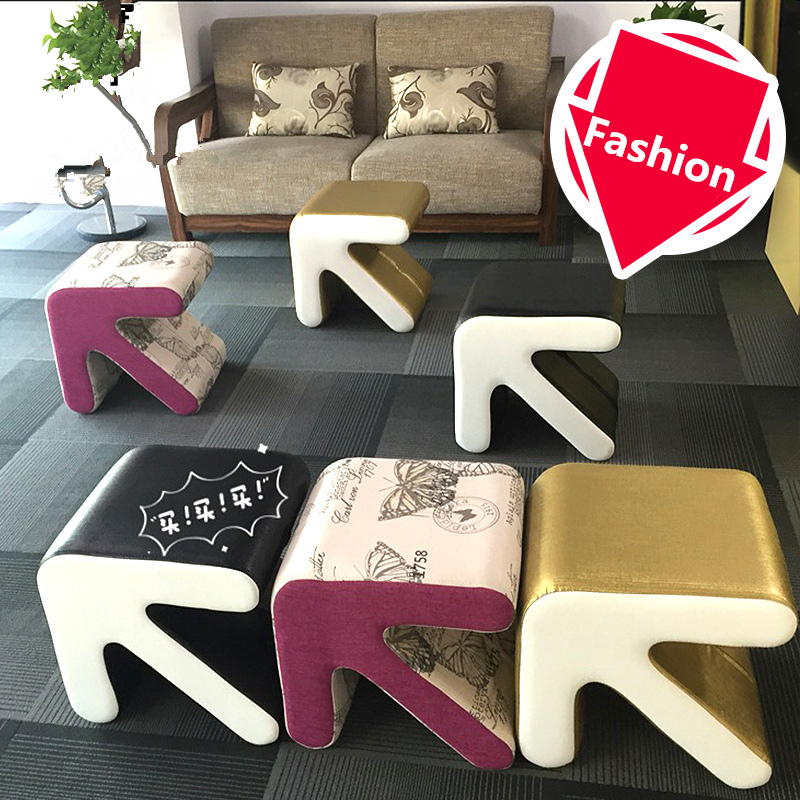 Fashion Creative Stool Household Furniture Arrow Type European Shoes Stool Chair Small Sofa Table Seat Living Room Footstool hot selling fine workmanship high quality fashion modern shoes stool fabric creative footstool living room sofa stool ottoman