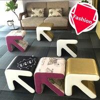 Fashion Creative Stool Household Furniture Arrow Type European Shoes Stool Chair Small Sofa Table Seat Living Room Footstool
