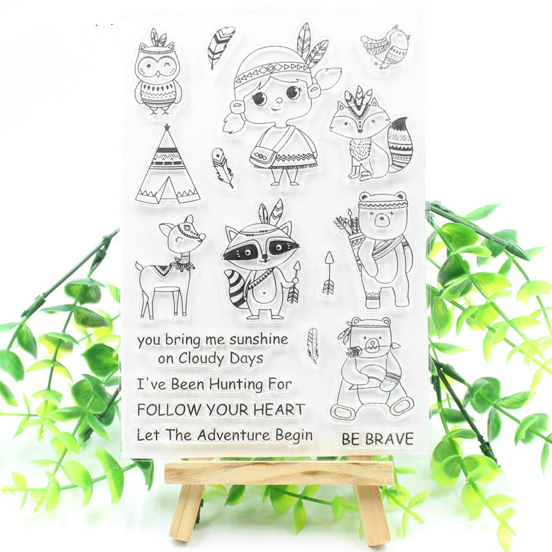 Be Brave Transparent Clear Silicone Stamps for DIY Scrapbooking/Card Making/Kids Fun Decoration Supply