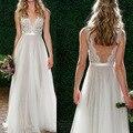 2017 Женщины Лето Кружева Dress Sexy Party Принцесса Без Рукавов V Шеи Спинки Long Dress Белый Элегантный Dress Vestidos Де Феста