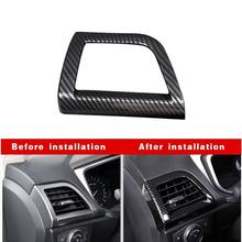 New Interior Mouldings Accessories 1Pcs Black Carbon Fiber ABS Inner Side Air Vent Outlet Cover For Ford Fusion Mondeo 2013-2018(China)