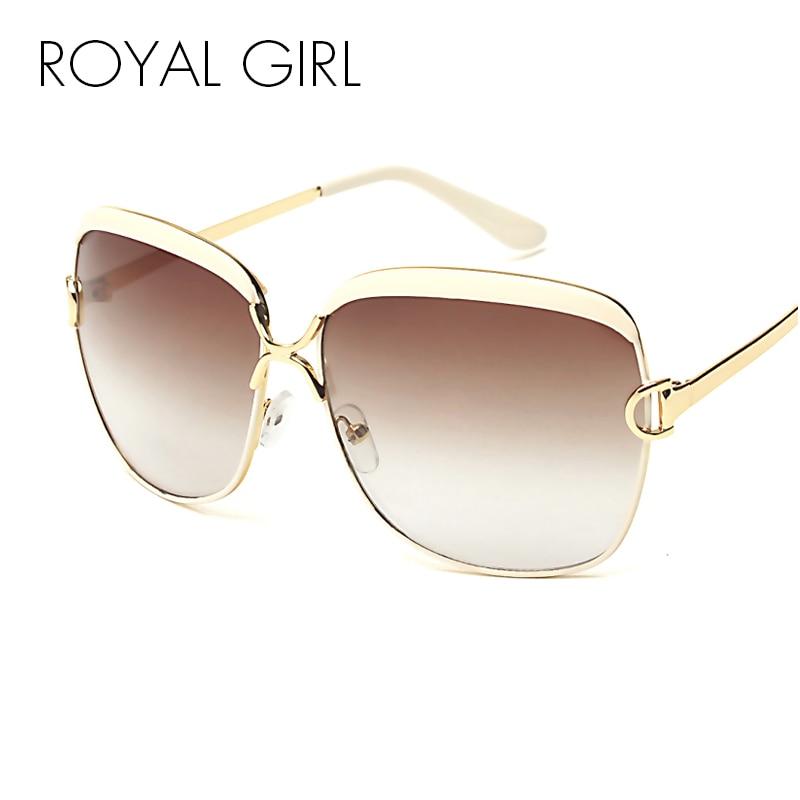 99bb974bc الملكي فتاة عالية الجودة النساء العلامة التجارية مصمم النظارات الشمسية  الصيف الفاخرة D إطار ظلال نظارات التدرج العدسات نظارات شمسية ss148