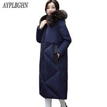 2017 New Arrival Casual Warm Long Sleeve Ladies Basic Coat jaqueta feminina jacket women parkas cotton Women Winter Jacket 5L62