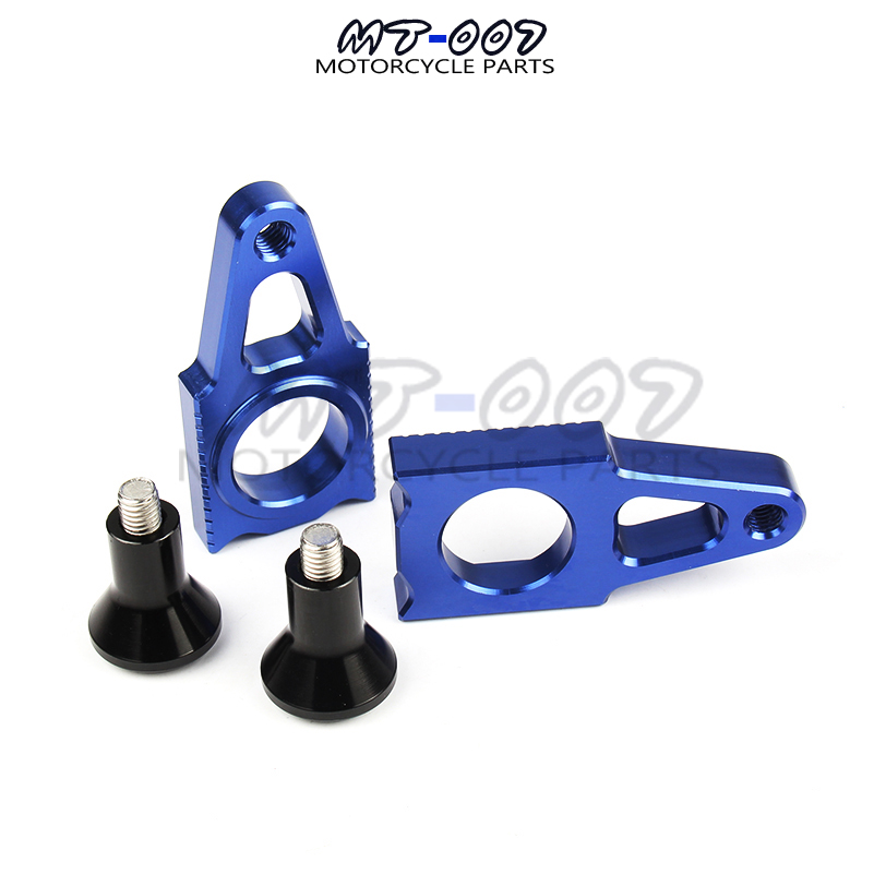 CNC Rear Axle Blocks Chain Adjuster With Spool Slider Bolts Device For YAMAHA YZ125/250 YZ250F YZ450F YZ250X YZ250FX WR250 WR450 цена