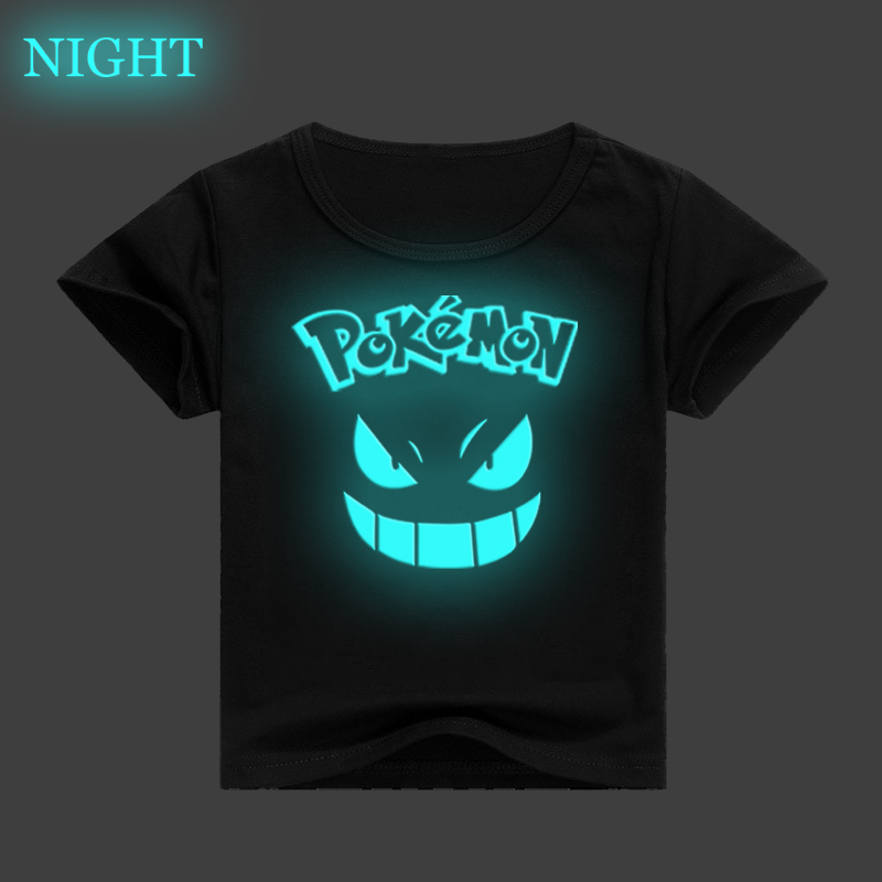 Pokemon Gengar Luminous Kids T Shirt 3D Printed Children Clothes Baby Boys Girls Casual T-shirt Summer Short Sleeve Tee Tops image