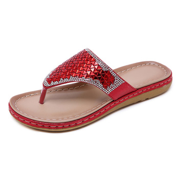 2020 Summer Women Slippers Bling Shoes Flat Beach Slippers Flip Flops Summer Ladies Shoes Soft Comfortable A905 3