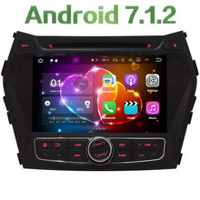 "HD 8"" Android 7.1 Quad Core 2GB RAM 4G WiFi Multimedia Car DVD Player Radio Stereo GPS Screen For Hyundai IX45 Santa FE 2013-16"