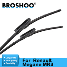 Car Wiper Blade for Renault Megane 3, 24+16inch soft rubber Auto part windscreen wiper blade accessories Free shipping 1Pair