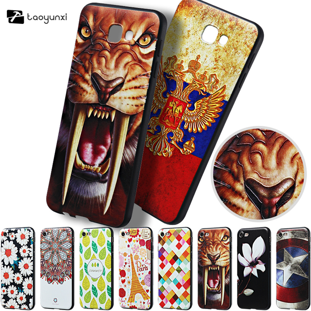 TAOYUNXI Relief Soft TPU Painted Phone Cases For Samsung Galaxy J5 Prime On5 2016 G570Y G570M G570F G570F Covers Back Bags Shell