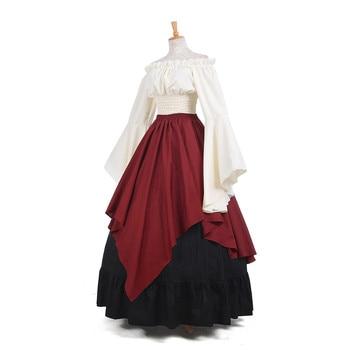 ROLECOS New Arrival Gothic Lolita Medieval Renaissance Women Costumes Victorian Long Dresses Retro Party Costumes GC229 2