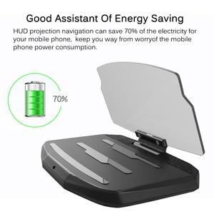 Image 4 - אוניברסלי טלפון רכב מראה מחזיק שמשות מקרן HUD ראש Up תצוגת GPS ניווט HUD מתקפל סוגר עבור iPhone סמסונג