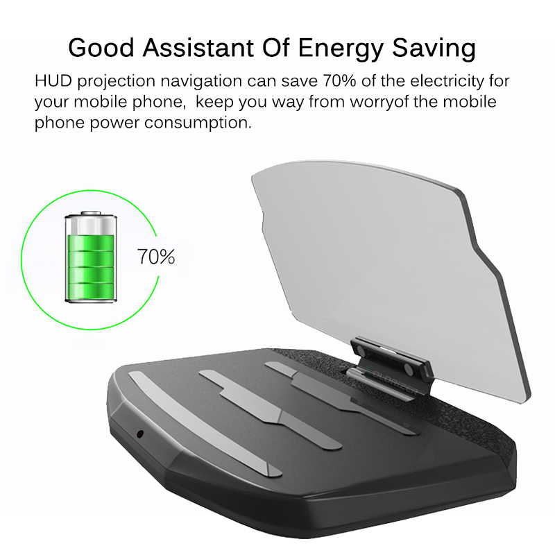 Image 4 - Universal Phone Car Mirror Holder Windscreen Projector HUD Head Up Display GPS Navigation HUD Folding Bracket For iPhone Samsung-in Phone Holders & Stands from Cellphones & Telecommunications