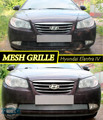 Mesh grille for  Hyundai Elantra IV 2006-2010 car styling molding decoration protection chrome pad cover stainless