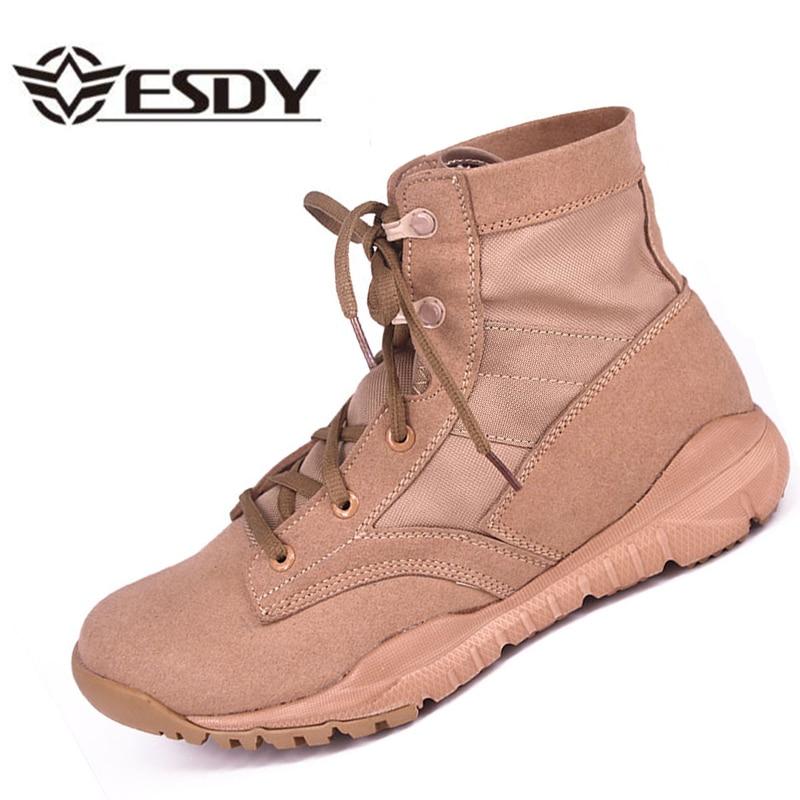 Spring Summer Men Ankle Combat Light Comfortable Shoes Male Tactics Boots Desert Military Shoes Boots Plus
