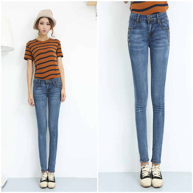 Aliexpress.com : Buy Juniors Jean Boot Cut Skinny Leg Long Design ...