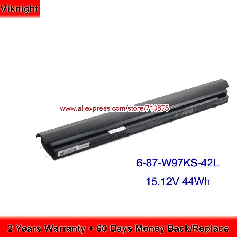 Genuine Clevo 6-87-W97KS-42L W950BAT-4 6-87-W97KS-42L1 Battery 15.12V 44Wh origianl clevo 6 87 n350s 4d7 6 87 n350s 4d8 n350bat 6 n350bat 9 laptop battery